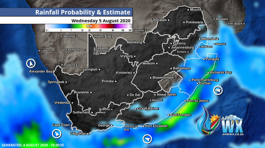 cold front storm report and snow report south africa