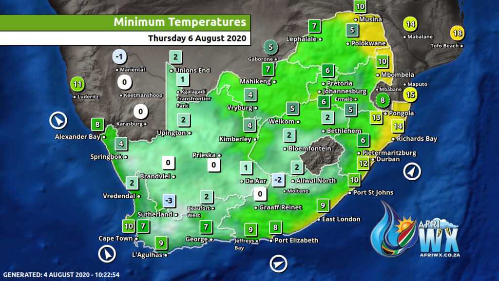 cold front south africa